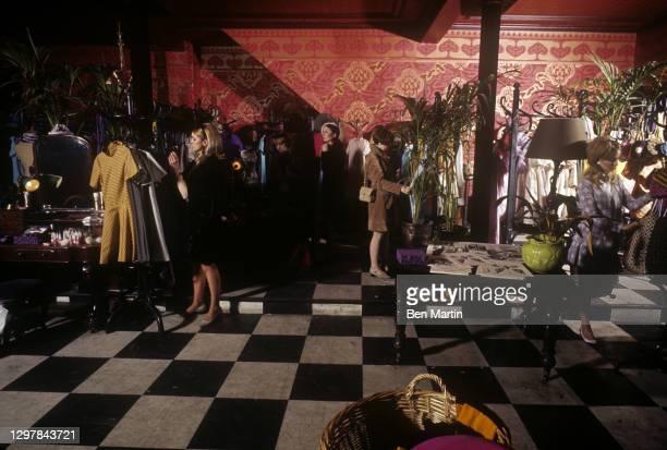Trendy Kensington department store Biba run by Polish-born Barbara Hulanicki with her husband Stephen Fitz-Simon, London, England, 1966.
