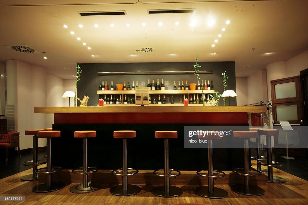 Trendy modern bar : Stock Photo