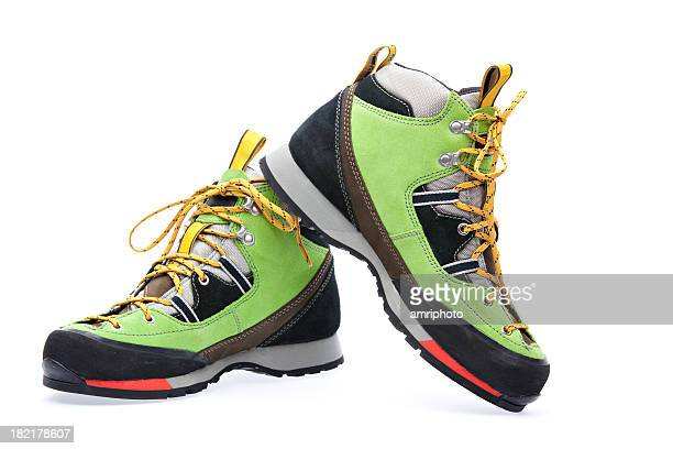 trendy new alpine boots - hiking boot stock pictures, royalty-free photos & images
