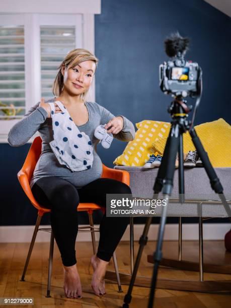 Trendy new mommy Vlogger