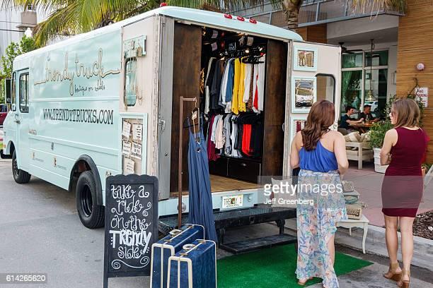 Trendy Truck popup store on 'Ocean Drive'