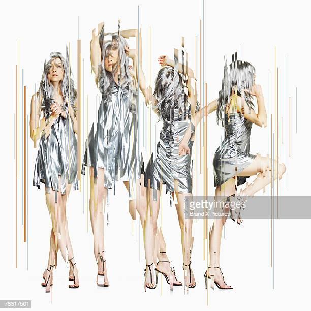 Trendy women dancing
