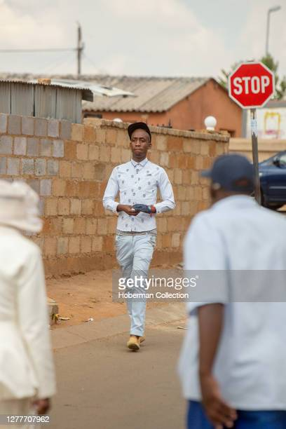 Trendy young African man in Soweto township, South Africa