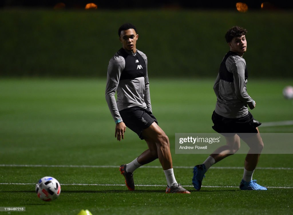 Liverpool Training Session Ahead Of Their FIFA World Club Cup Semi-Final : Nachrichtenfoto