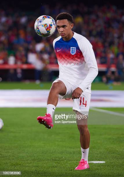 Trent AlexanderArnold defender of England looks during the UEFA Nations League A Group match between Spain and England on October 15 at Benito...