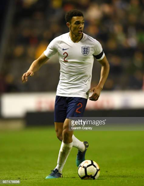 Trent AlexanderArnold of England during the International Friendly between England U21 and Romania U21 at Molineux on March 24 2018 in Wolverhampton...