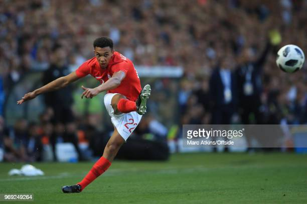 Trent AlexanderArnold of England during the International Friendly match between England and Costa Rica at Elland Road on June 7 2018 in Leeds England