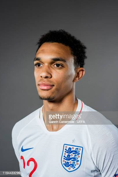 Trent Alexander-Arnold of England poses for a portrait at St Georges Park on June 04, 2019 in Burton-upon-Trent, England.