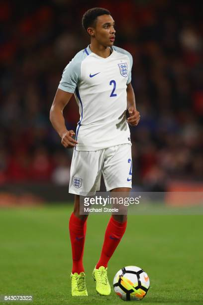 Trent AlexanderArnold of England U21's during the UEFA Under 21 Championship Qualifier match between England and Latvia at the Vitality Stadium on...