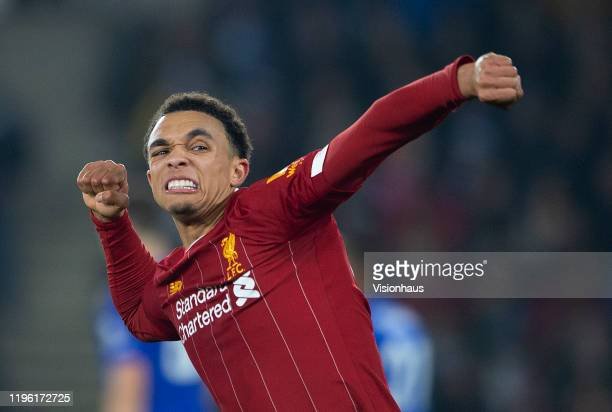 Trent Alexander-Arnold of Liverpool during the Premier League match between Leicester City and Liverpool FC at The King Power Stadium on December 26,...