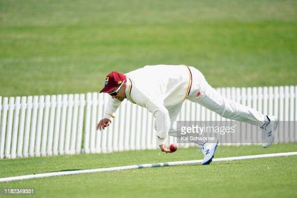 Trent Boult of Northern Districts fields the ball during the Plunket Shield match between Canterbury and Northern Districts at Hagley Oval on October...