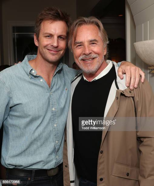 Trent Broin and Don Johnson attend a party for the 20th Anniversary of the Savannah Film Festival hosted by CAA Agent Tracy Brennan and presented by...