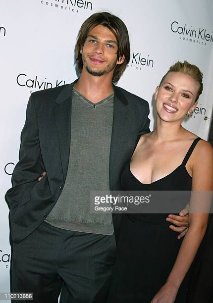 Trent Ford and Scarlett Johansson during Calvin Klein Launch Party for 'Eternity Moment' Fragrance Arrivals at Hotel Gansevoort in New York NY United...