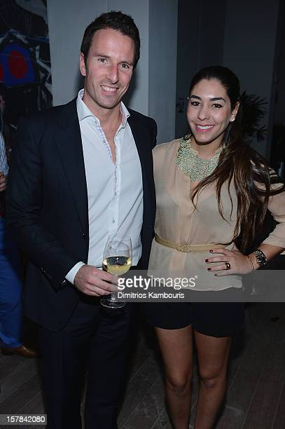 Trent Fraser and Nicole Stanziola attend the celebration of Dom Perignon Luminous Rose at Wall at W Hotel on December 6 2012 in Miami Beach Florida