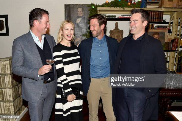 Trent Fraser Kelly Rutherford Lucas Dirksen and Andrew Freesmeier attend Ken Fulk's 'OldFashioned TequilaFueled Holiday Party' at Ken Fulk Tribeca on...