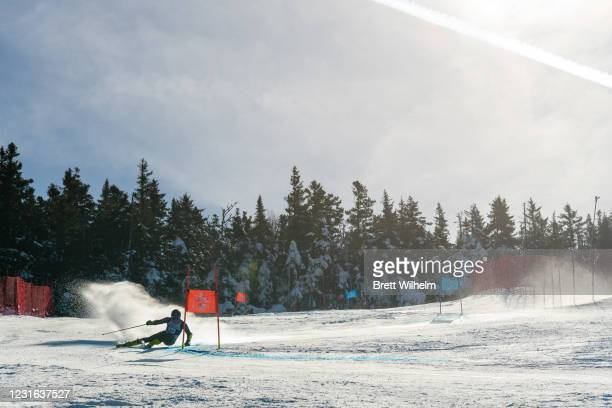 Trent Gutstein of the Boston Eagles during the Men's Giant Slalom race of the Division I Men's and Women's Skiing Championships held at Cannon...