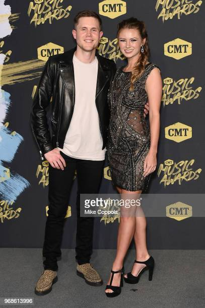 Trent Harmon and guest attend the 2018 CMT Music Awards at Bridgestone Arena on June 6, 2018 in Nashville, Tennessee.