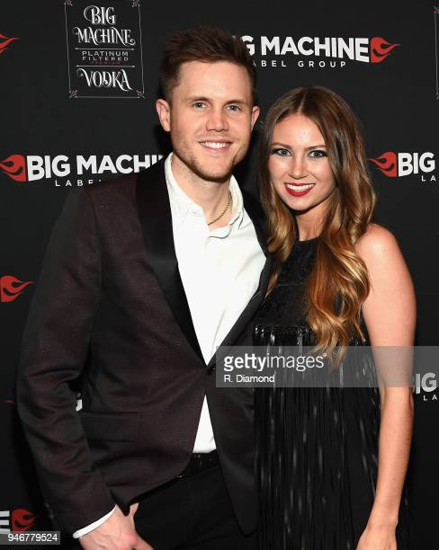 Trent Harmon and Kathleen Couch attend the 53rd Annual ACM Awards celebration with Big Machine Label Group at MGM Grand Hotel & Casino on April 15,...