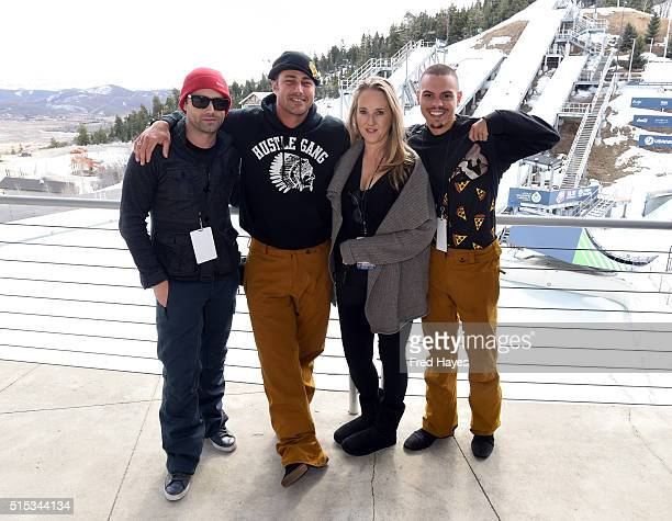 Trent Kinney Taylor Kinney Jen Salke and Evan Ross attend the Celebrity Ski Smile Challenge at the Utah Winter Olympic Park on March 12 2016 in Park...