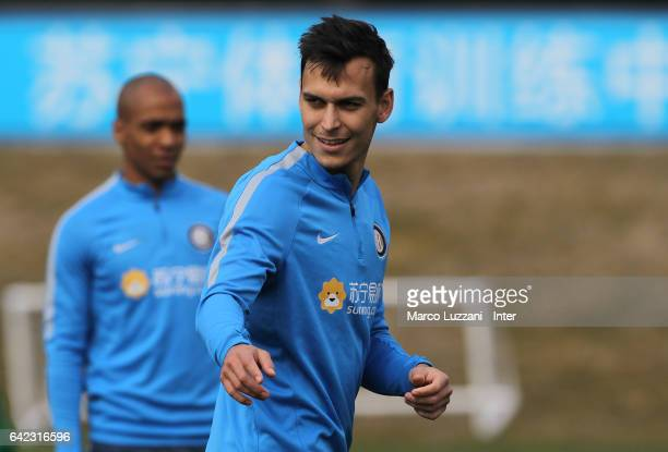 Trent Lucas Sainsbury of FC Internazionale Milano looks on during the FC Internazionale training session at the club's training ground 'La Pinetina'...