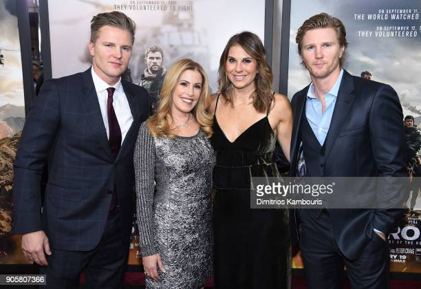Trent Luckinbill and Thad Luckinbill attend the world premiere of '12 Strong' at Jazz at Lincoln Center on January 16 2018 in New York City