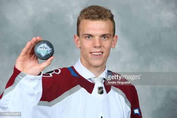 Trent Miner 202nd pick overall of the Colorado Avalanche poses for a portrait during Rounds 27 of the 2019 NHL Draft at Rogers Arena on June 22 2019...