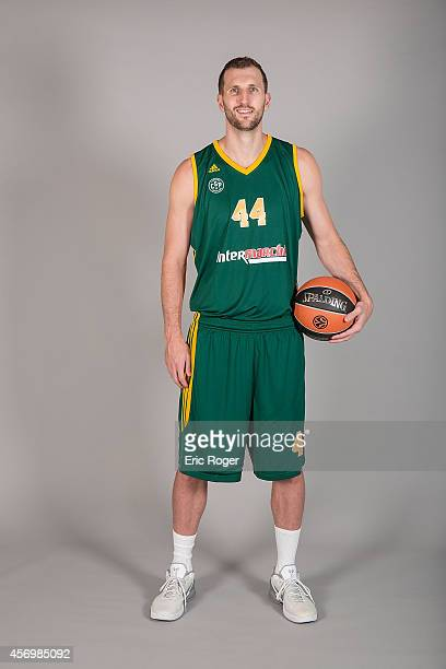 Trent Plaisted #44 during the Limoges CSP 2014/2015 Turkish Airlines Euroleague Basketball Media Day at Beaublanc on September 10 2014 in Limoges...