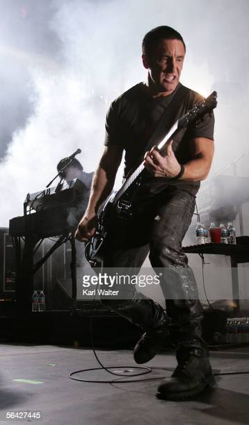 Trent Renzor of Nine Inch Nails performs at 1067 KROQ's Almost Acoustic Christmas at Gibson Ampitheater at Universal Studios on December 10 2005 in...