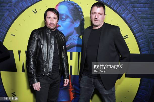 Trent Reznor and Atticus Ross attend the premiere of HBO's Watchmen at The Cinerama Dome on October 14 2019 in Los Angeles California