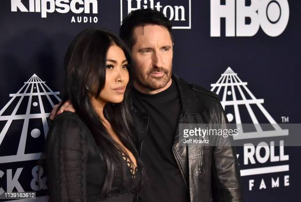Trent Reznor and Mariqueen Maandig attend the 2019 Rock & Roll Hall Of Fame Induction Ceremony at Barclays Center on March 29, 2019 in New York City.