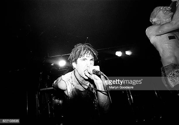 Trent Reznor and Richard Patrick of Nine Inch Nails perfom on stage United Kingdom 1992