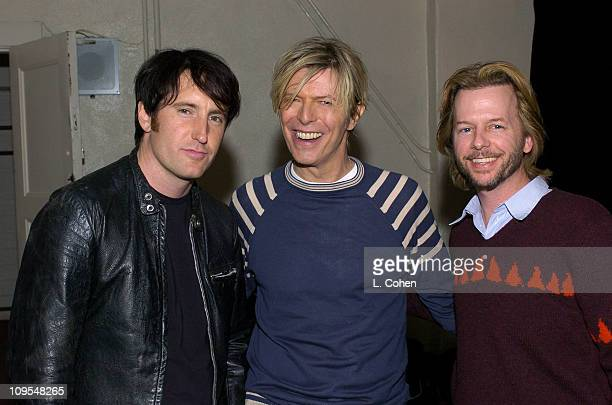 Trent Reznor David Bowieand David Spade seen backstage at BOWIE's first concert visit to Los Angeles in nearly seven years It was the first of four...