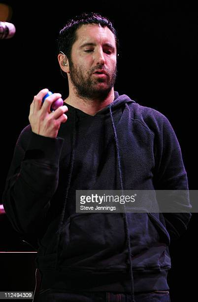 Trent Reznor during 20th Annual Bridge School Benefit Concert Day One at Shoreline Amphitheatre in Mountain View California United States