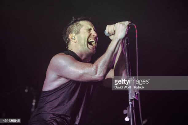 Trent Reznor from Nine Inch Nails performs at Zenith de Paris on May 29 2014 in Paris France