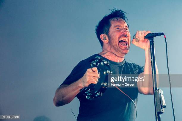 Trent Reznor of Nine Inch Nails performs at FYF Festival on July 22 2017 in Los Angeles California
