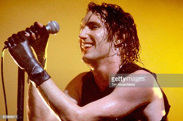 Trent Reznor of Nine Inch Nails performs at the Henry J Kaiser Convention Center on October 14 1994 in Oakland California