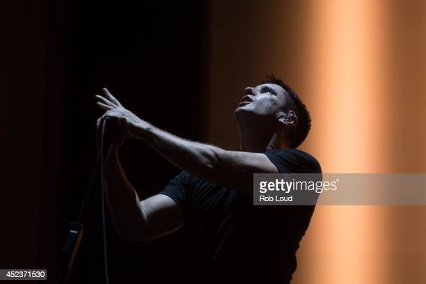 Trent Reznor of Nine Inch Nails performs at the Pemberton Festival on July 18 2014 in Pemberton Canada