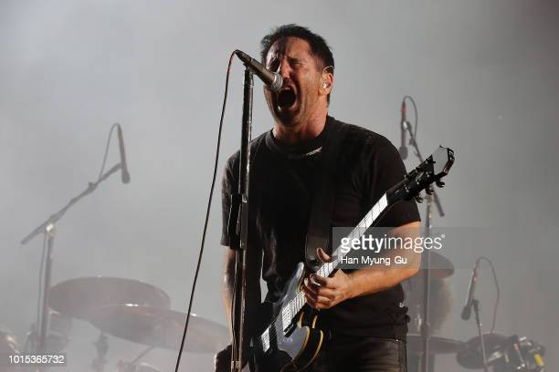 Trent Reznor of Nine Inch Nails performs live during the Incheon Pentaport Rock Festival 2018 on August 11 2018 in Incheon South Korea