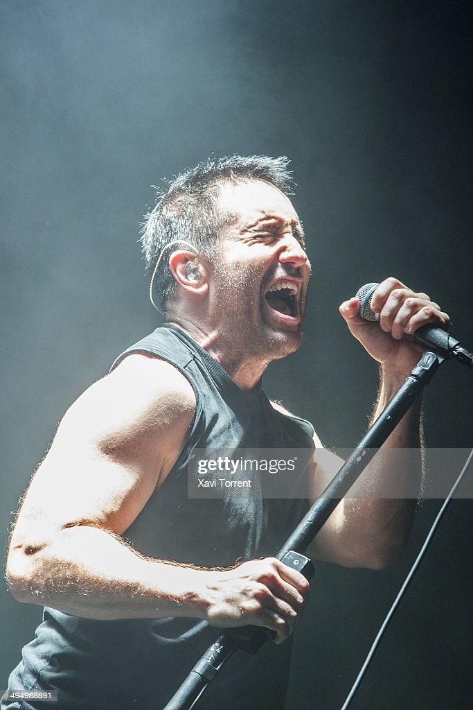 Trent Reznor of Nine Inch Nails performs on stage on last day of Primavera Sound 2014 on May 31, 2014 in Barcelona, Spain.