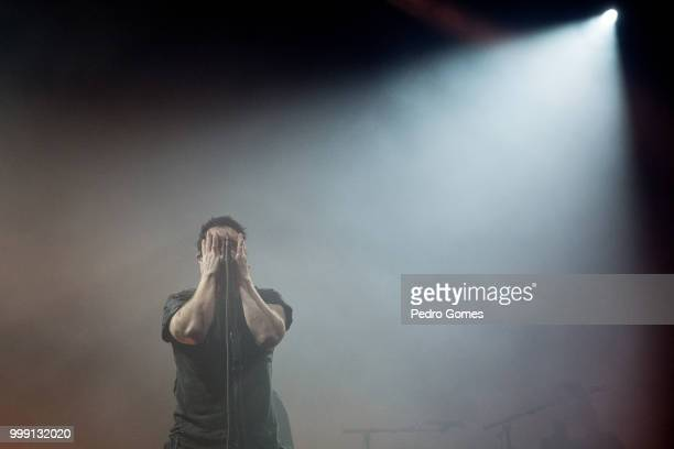 Trent Reznor of Nine Inch Nails performs on the NOS Stage on day 1 of NOS Alive festival on July 12 2018 in Lisbon Portugal