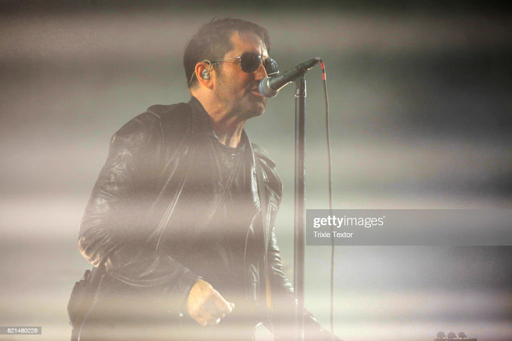 Trent Reznor of Nine Inch Nails performs onstage on day 3 of FYF Fest 2017 at Exposition Park on July 23, 2017 in Los Angeles, California.