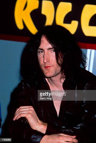 Trent Reznor of the music group Nine Inch Nails promotes the video release of 'Natural Born Killers Directors Cut' by director Oliver Stone July 30...