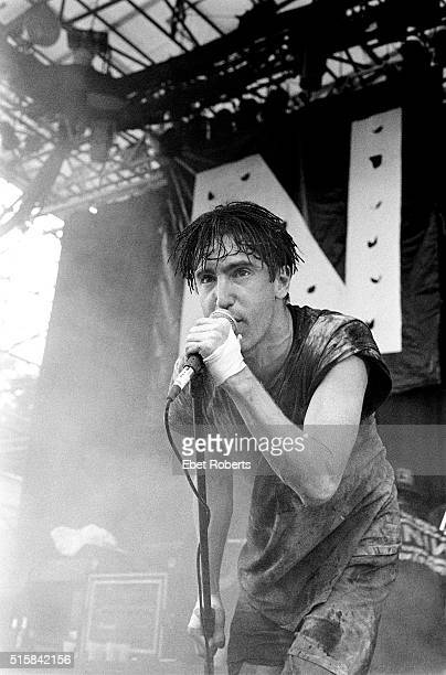 Trent Reznor performing with Nine Inch Nails at Lollapalooza in Waterloo New Jersey on August 14 1991