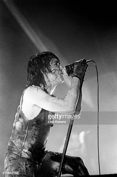 Trent Reznor performing with Nine Inch Nails at Madison Square Garden in New York City on December 9 1994