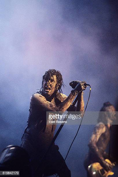 Trent Reznor performing with Nine Inch Nails at Woodstock 94 in Saugerties New York on August 13 1994