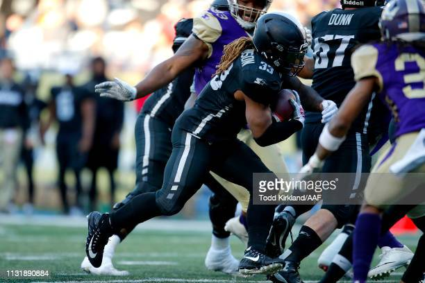 Trent Richardson of Birmingham Iron runs the ball for a touchdown against the Atlanta Legends during the second quarter of the Alliance of American...