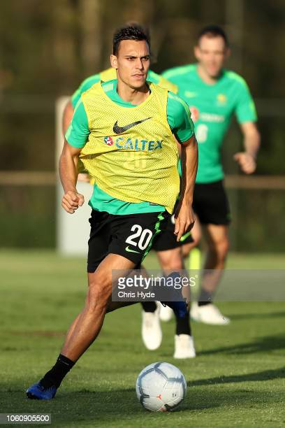 Trent Sainsbury during a Australian Socceroos training session at Lion FC Stadium on November 13 2018 in Brisbane Australia
