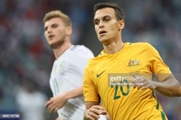 Trent Sainsbury of Australia during the FIFA Confederations Cup Russia 2017 Group B match between Australia and Germany at Fisht Olympic Stadium on...