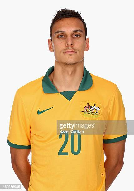 Trent Sainsbury of Australia poses during an Australian Socceroos headshot session at the InterContinental Hotel on January 3 2015 in Melbourne...