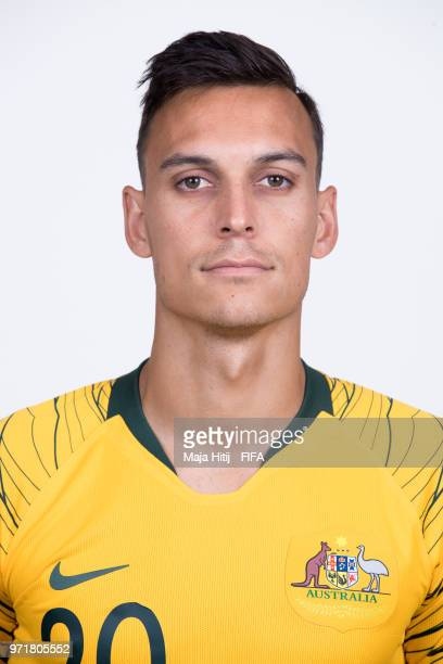 Trent Sainsbury of Australia poses for a portrait during the official FIFA World Cup 2018 portrait session at Trudovyne Rezeny on June 11 2018 in...